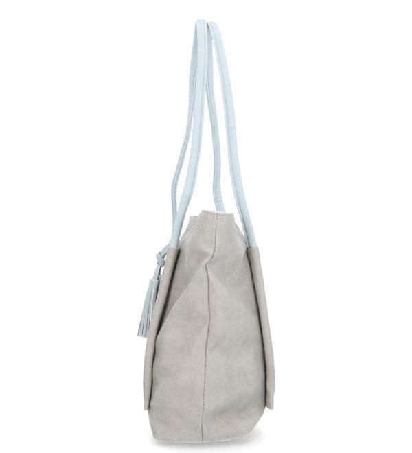 karen duża torebka z chwostami siwa