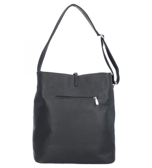 czarna torebka karen z paskiem