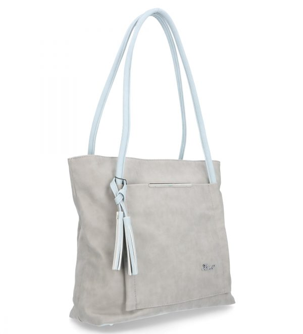 torebka karen z modnymi chwostami siwa