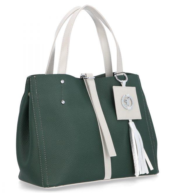 karen torebka z troczkiem i logo zielona