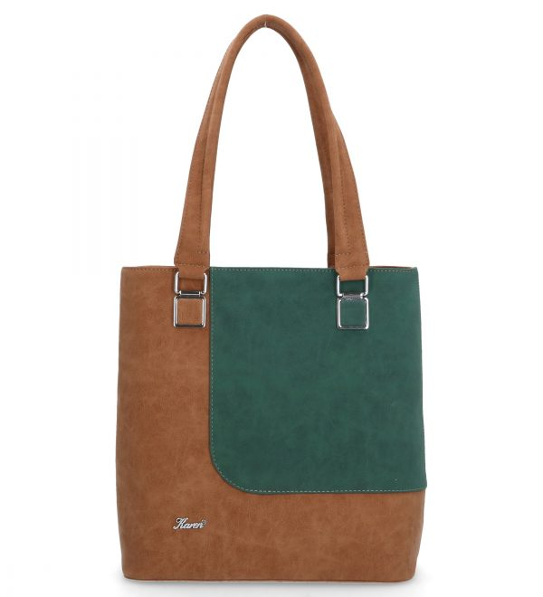 brązowo-zielona torebka karen
