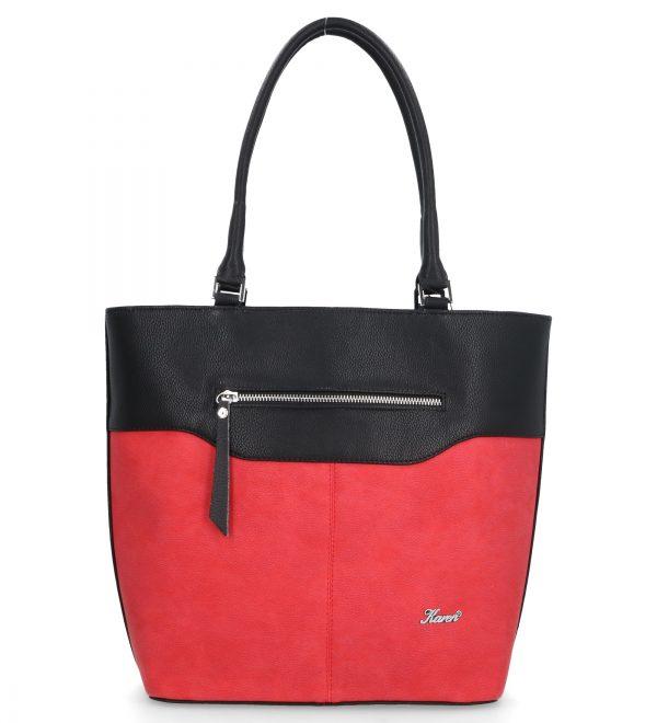 torebka czerwono-czarna karen duża