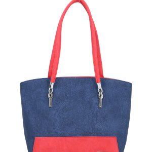 karen torebka czerwono niebieska