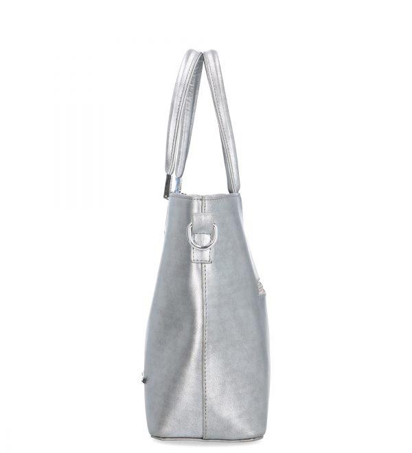 nobliwa torebka karen srebrna