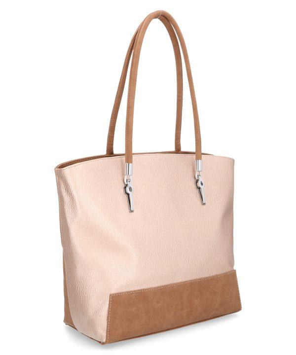beżowa torebka karen z poświatą