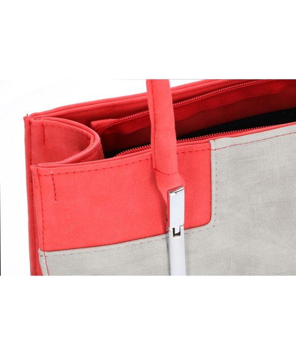 torebka czerwona szara karen