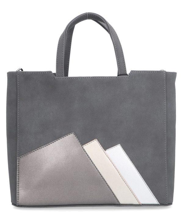 łagodna torba usztywniana karen szara