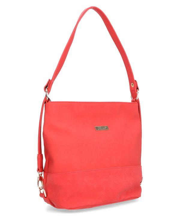torebka karen czerwona długi pasek na ramię