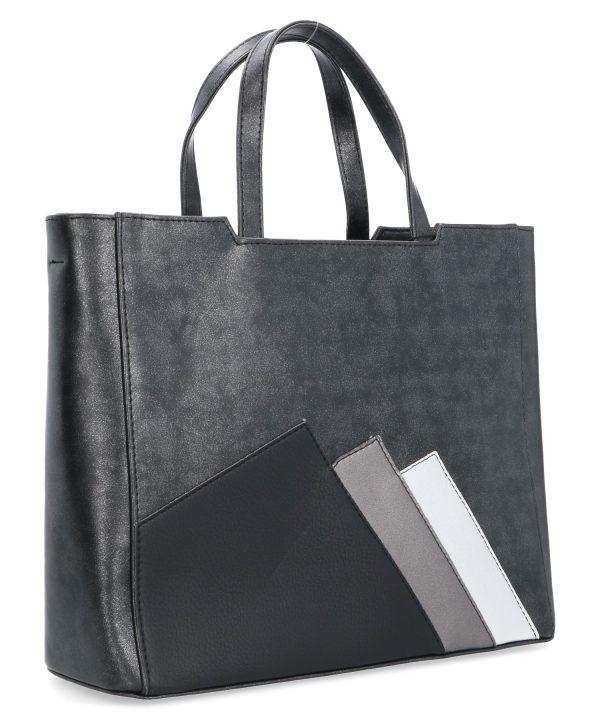 usztywniana torba damska karen czarna