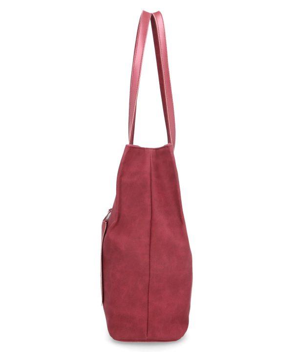 luźna torebka damska karen bordowa