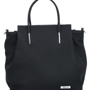 elegancka torebka karen czarna z paskiem