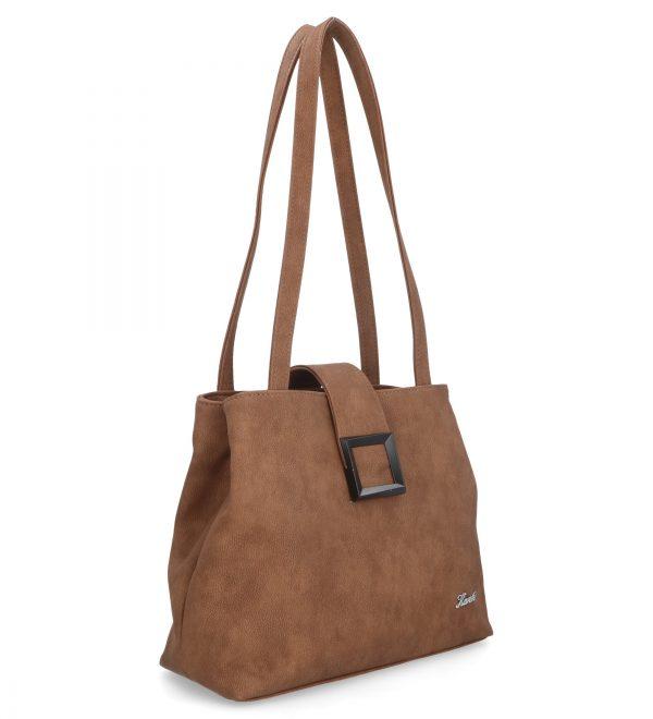 klasyczna torba brązowa dwukomorowa karen