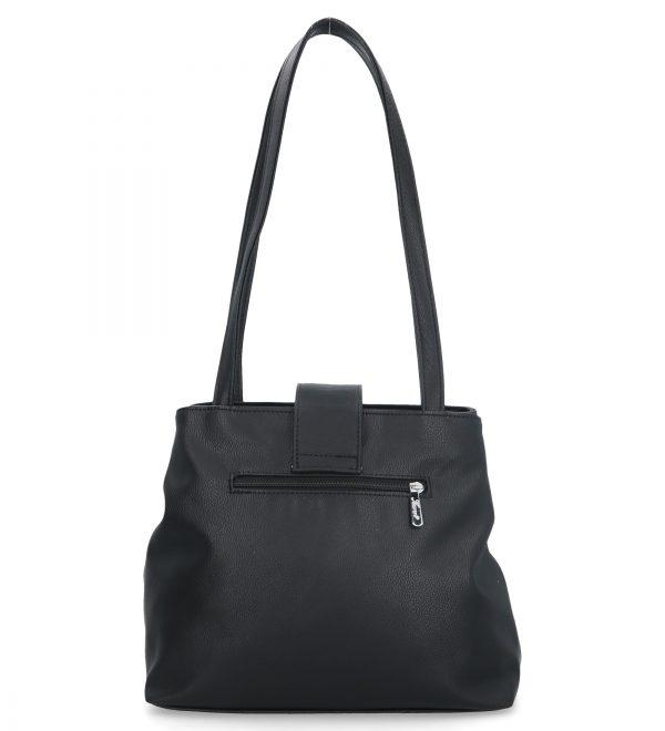 torebka na ramię z klamra karen czarna