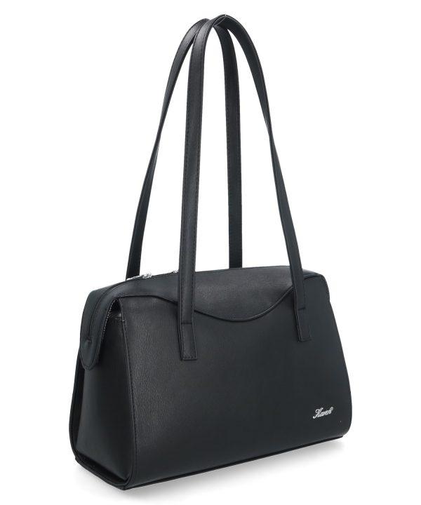 kształtna torebka karen czarna