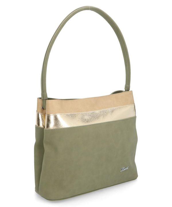 komfortowa torebka karen pistacjowa