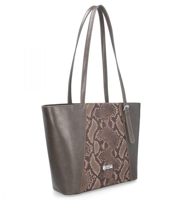 komfortowa torebka z długimi uszami karen brązowa