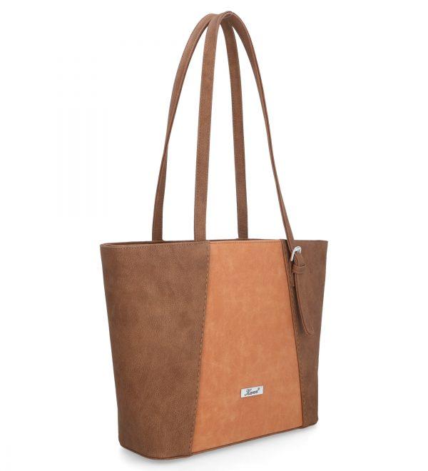 komfortowa torebka z długimi uszami karen kawowa