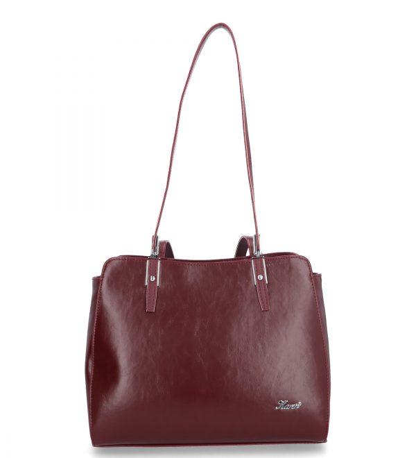 klasyczna torebka karen bordowa
