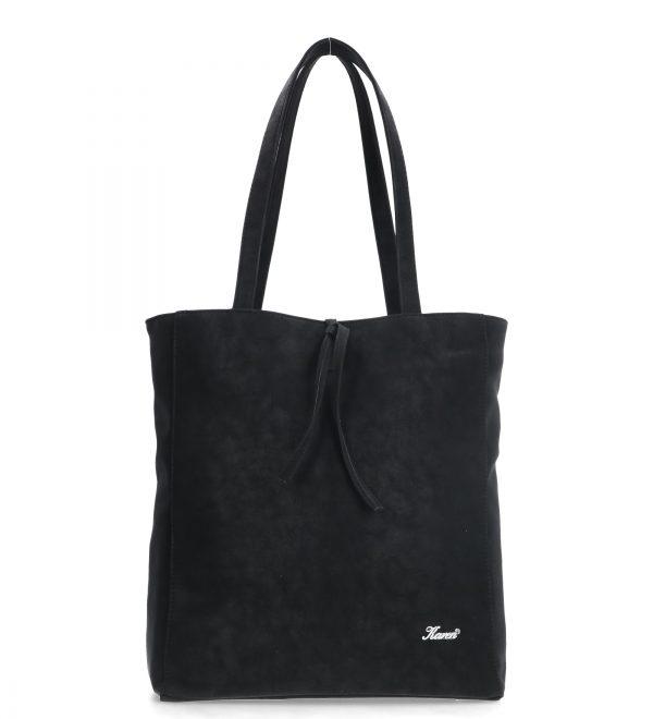 rozłożysta miękka torebka czarna karen