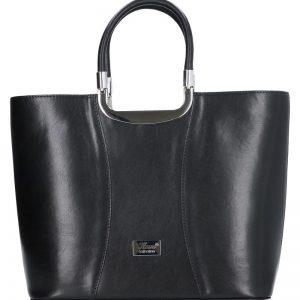 damska torebka klasyczna skórzana karen czarna
