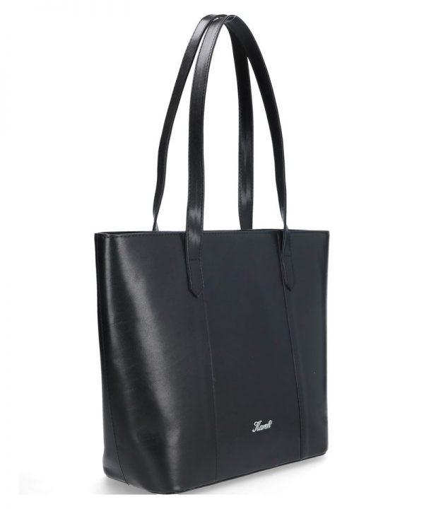 klasyczna torba skórzana karen czarna