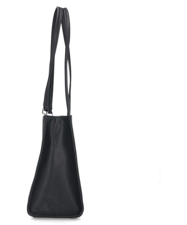 smukła usztywniona torebka karen czarna