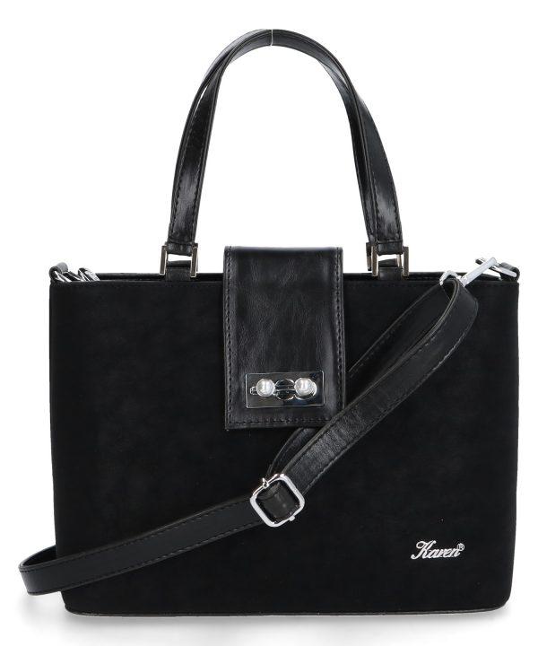 torebka z klamrą mija karen czarna