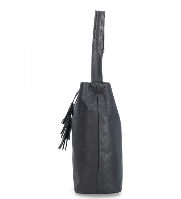 torebka z troczkami karen czarna