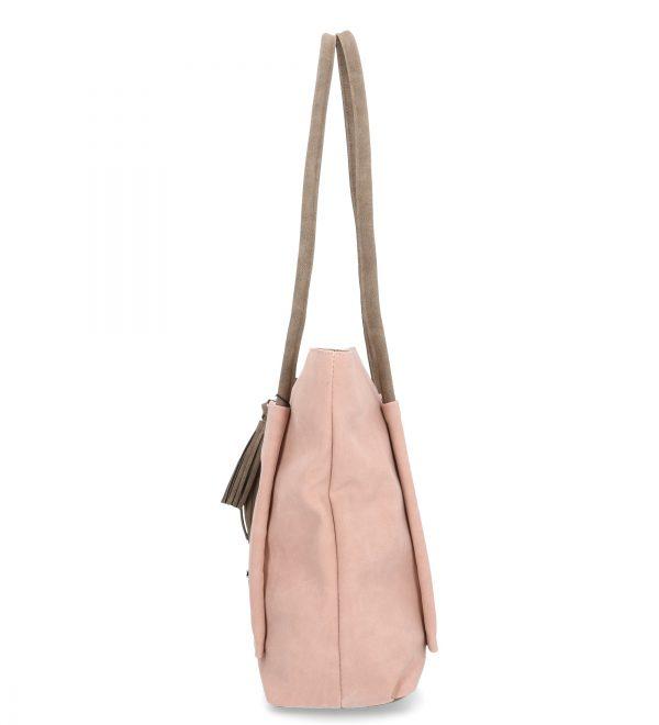 torebka karen duża różowa