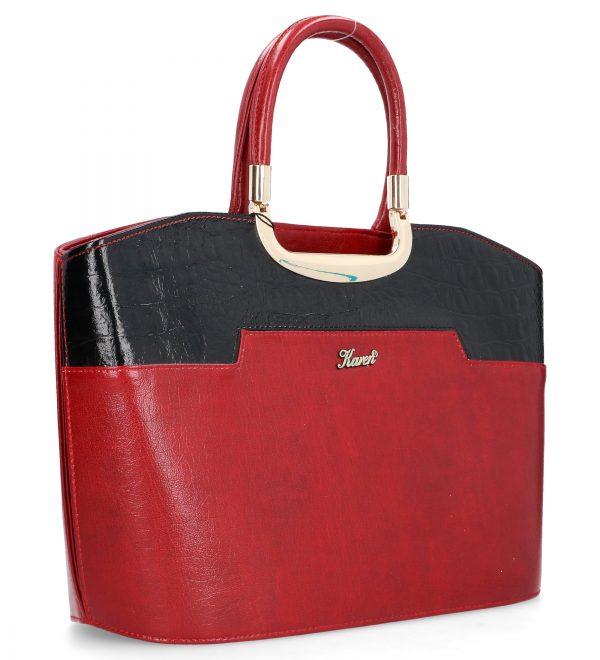 wieczorowa torebka karen czerwono-czarna