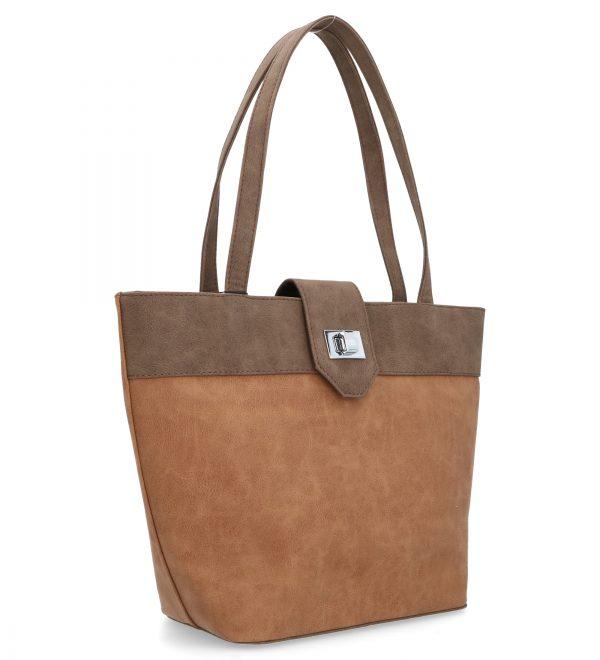 karen torebka duża brązowa z guziczkiem
