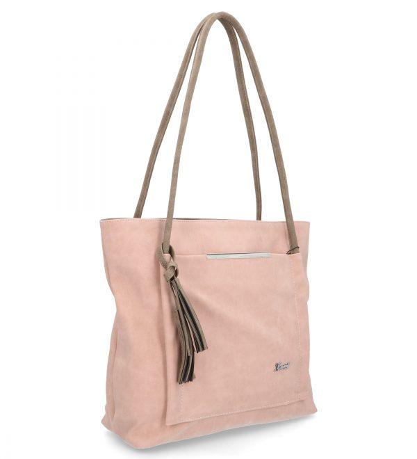 różowa torebka klasyczna z troczkiem karen
