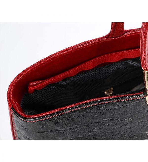 wnętrze torebka Neira czerwona karen