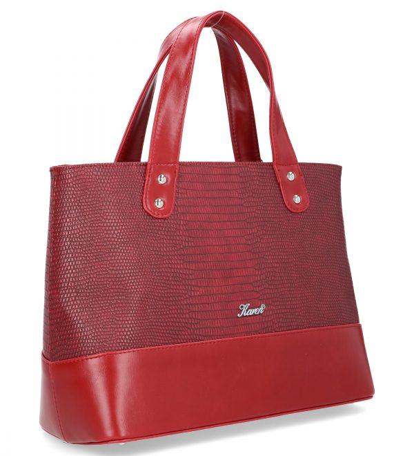 czerwona torebka karen wieczorowa