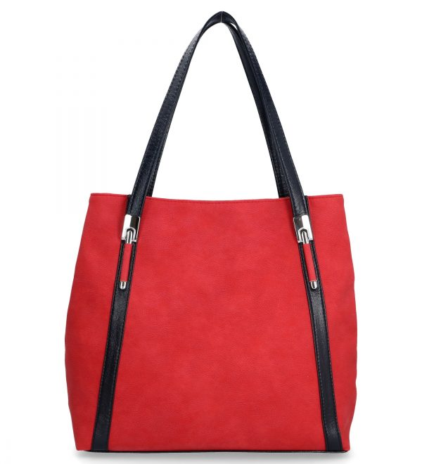klasyczna torebka karen dwukomorowa czerwona