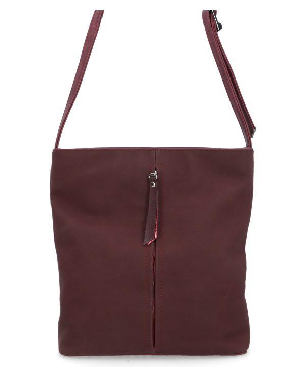 purpurowa torebka na pasku