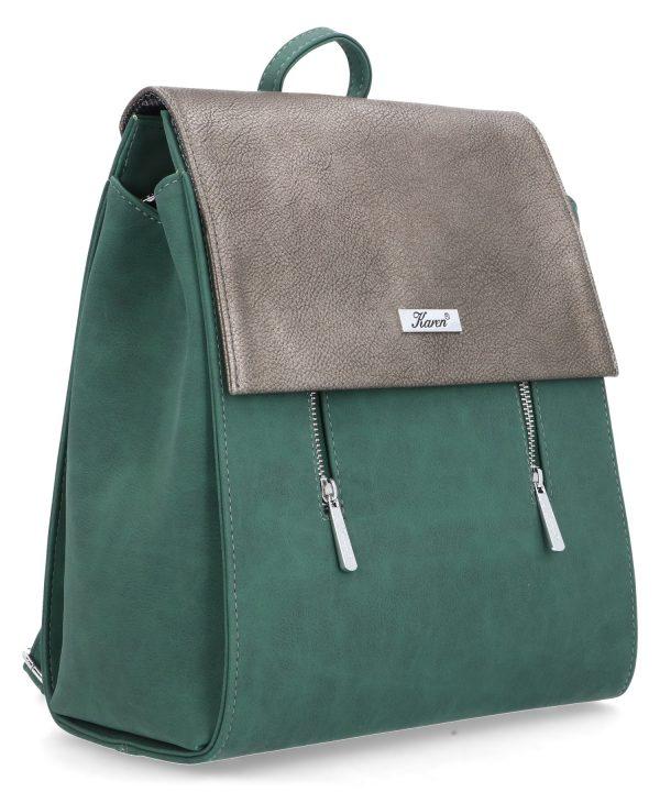 usztywniany plecak karen zielony