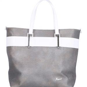 klasyczna torebka damska srebrna
