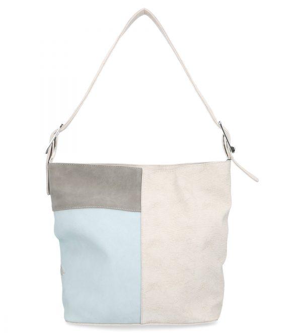 torebka casual karen biała, niebieska