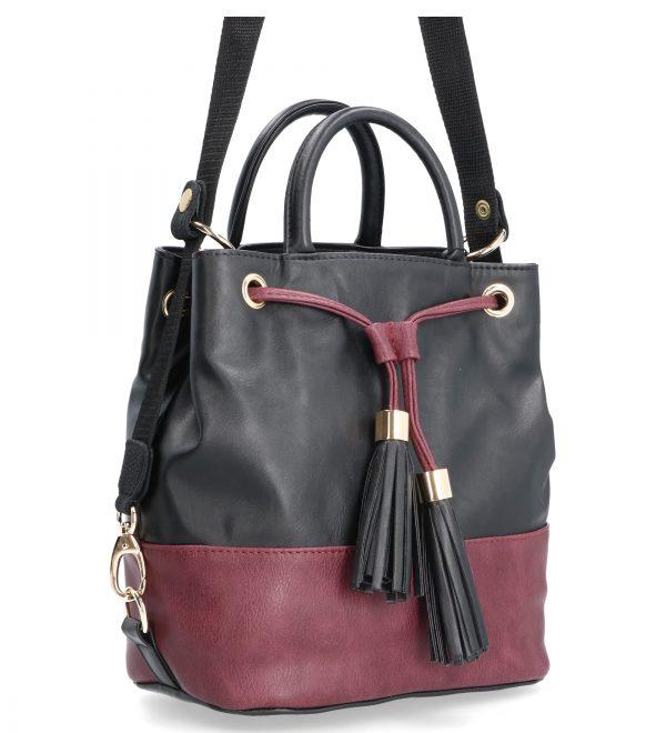 fioletowa torebka damska z troczkiem karen