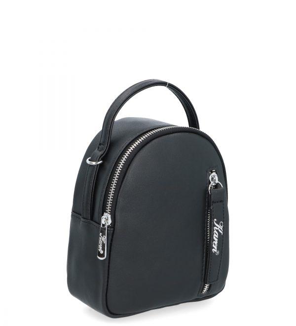 filigranowy czarny plecak karen