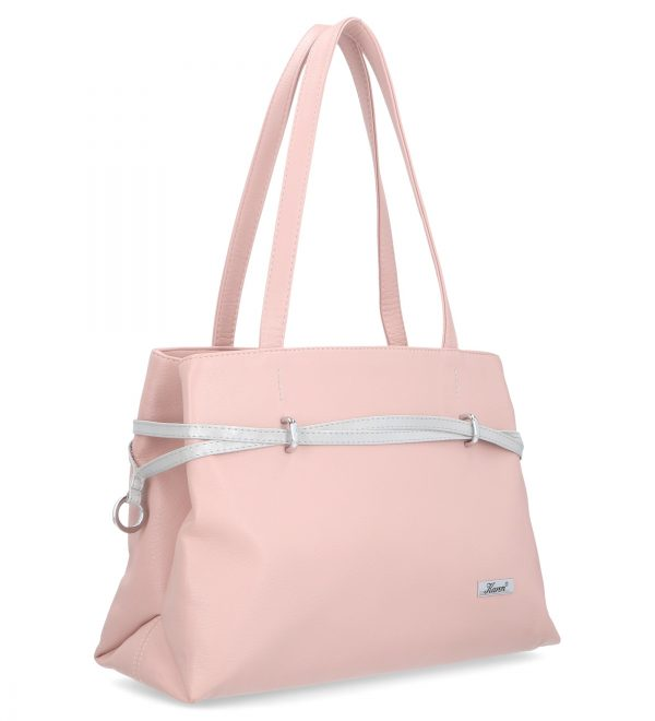 torebka mała casual różowa