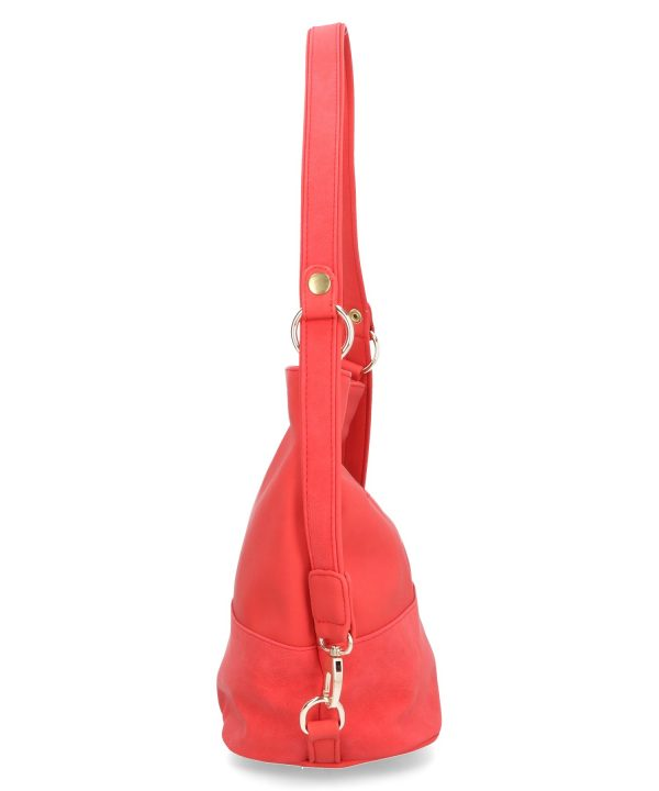 torebka karen czerwona na suwak regulowany pasek