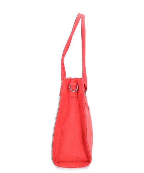 torebka karen czerwona duża kuferek