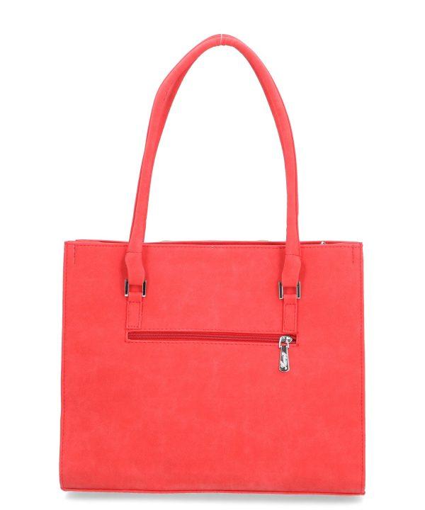 torebka karen czerwona duża kieszeń zewnętrzna
