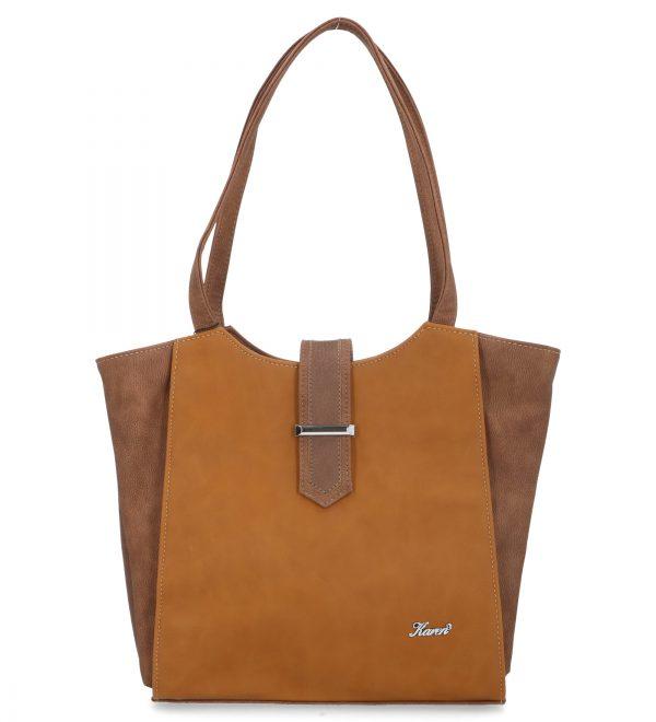 estetyczna torebka karen brązowa