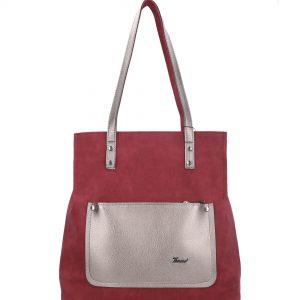 bordowa torebka z kieszonką karen