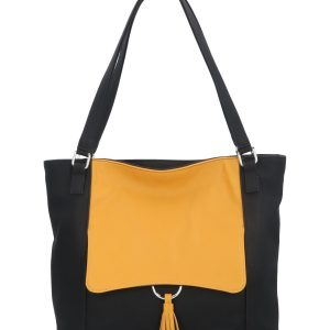 torebka z żółtą klapą karen