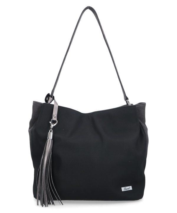 opływowa torebka karen czarna
