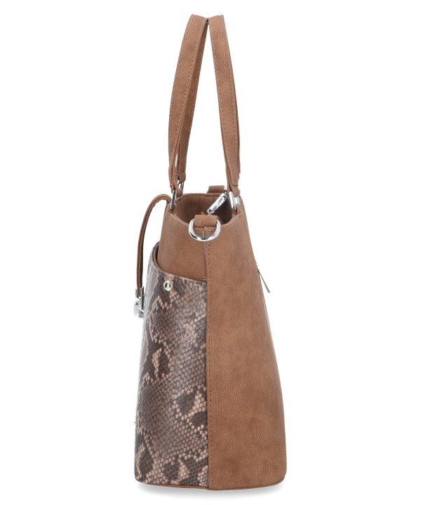 komfortowa torebka z wężowym wzorem karen